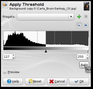 Threshold->Auto->OK